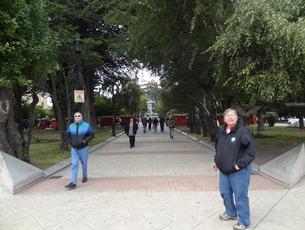 44 Mary at Plaza de Armas in Punta Arenas, Chile
