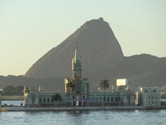 49 Sailing into Rio at sunrise - old customs house