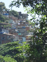 50 La Racinha Favela on hillside near Leblond beach