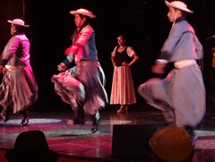 53 Argentine gaucho dancers on Prinsendam