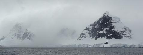 53 mountain on coast of Antarctic peninsula