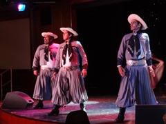 57 Argentine gaucho dancers on Prinsendam