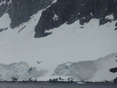 57 mountain on coast of Antarctic peninsula