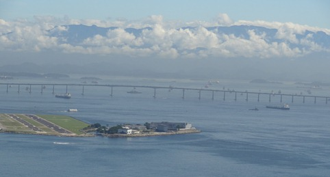 71 View of long bridge & mtns with clouds from Sugarloaf