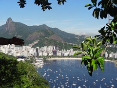 73 View of Corcovado & bay with yachts from Sugarloaf