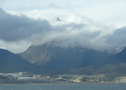 82 Mountain peeking above cloud, Beagle chanel
