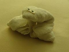 87 towel frog