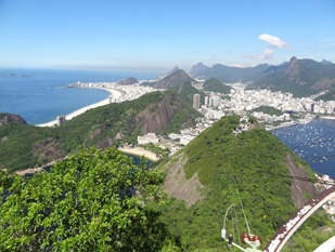96 View from Sugarloaf, with Copacabana on left