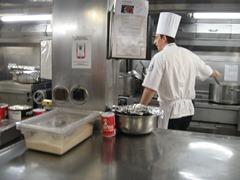 01 Chef in Prinsendam Galley