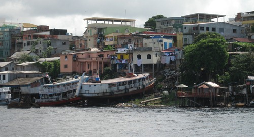 06 River boats ashore in Manaus