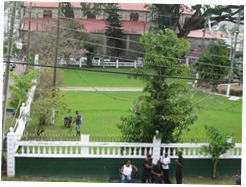 17 Derek Walcott Square from upper window of Library