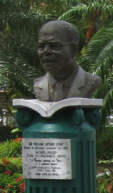 24 busts of Nobel laureates in D. Walcott parfk