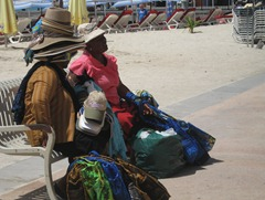 24 Hat lady on beach