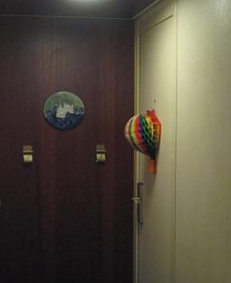 36 Our stateroom door
