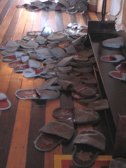 45 pile of slippers upstairs at Teatro