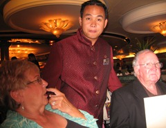 49 Ben (our wine steward) with Barb Guyott & Bing Bingenheim
