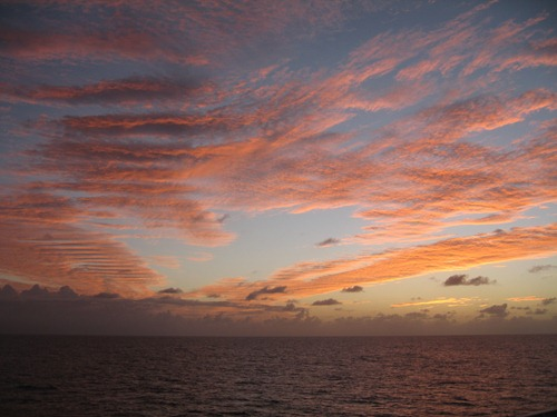 53 Sunset over the Caribbean