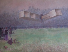 73 First Flight of Dumont (1906) - painting in Palacio Rio Negro