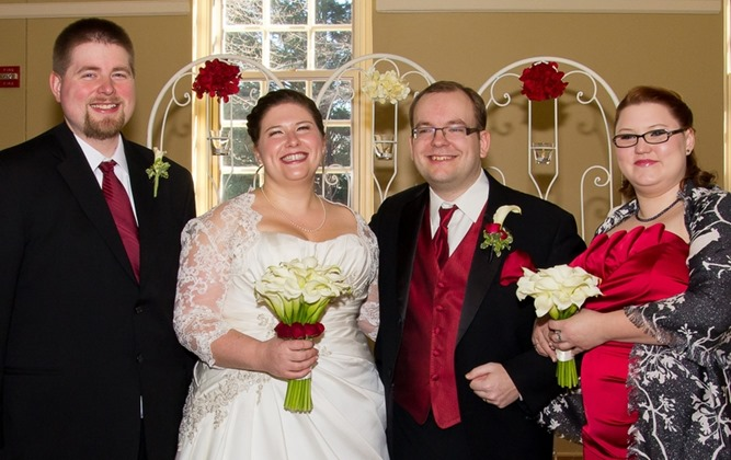 20. Bride & Groom with Best Man & Maid of Honor