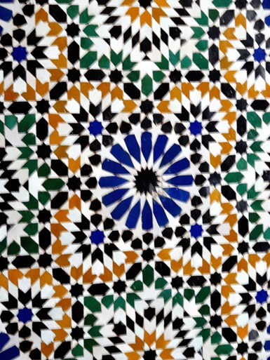49a. Marrakesh Bahia tile work