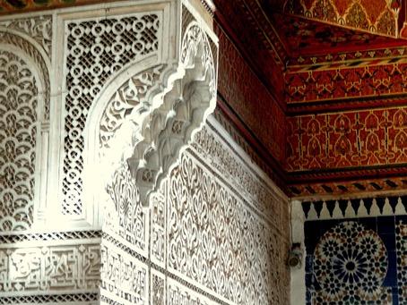 51a. Marrakesh Bahia ceiling corniche