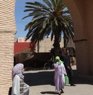 77a.  Taroudant, Morocco (gate & pregnant woman)