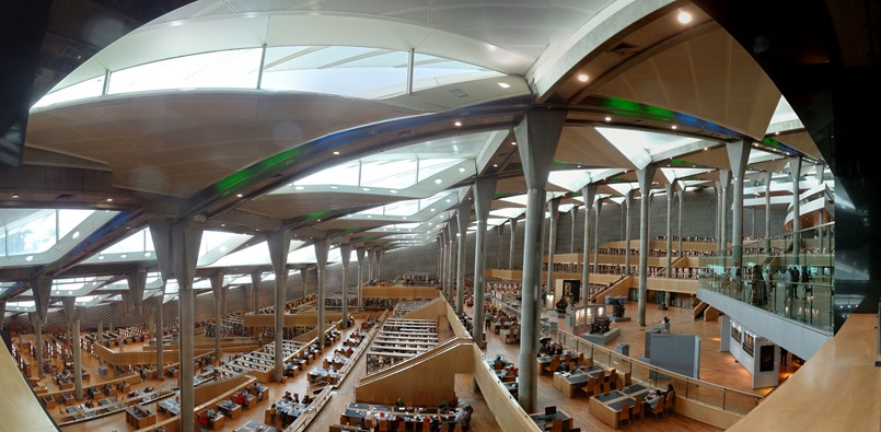 122. Alexandria library inside panorama