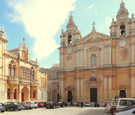 125a. Malta Mdina_Cathedral square fixed