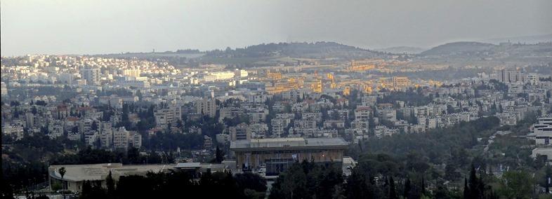 249. panorama from hotel window in Jerusalem