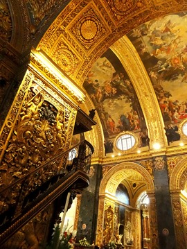 304. Malta Valleta St. Johns Co-Cathedral inside