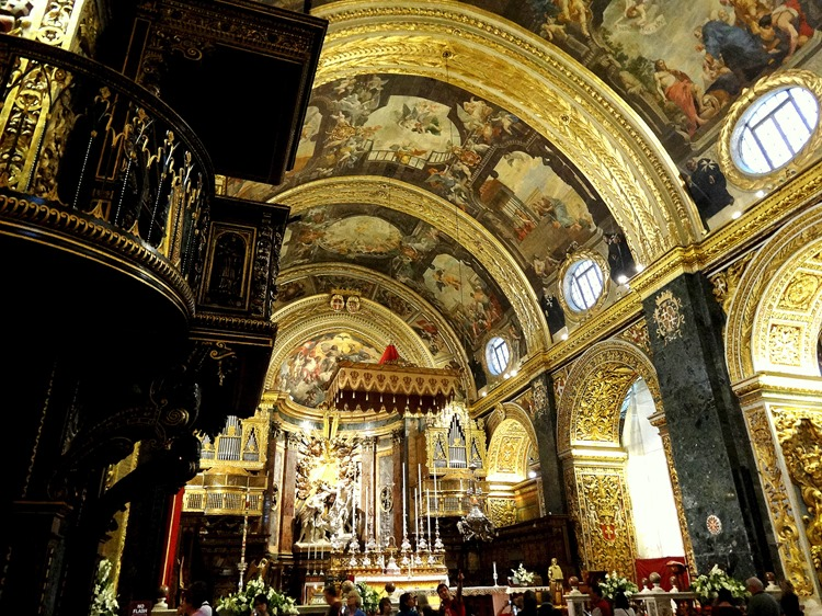 306. Malta Valleta St. Johns Co-Cathedral inside