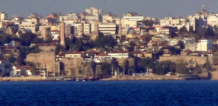 190a. Antalya old town from sea
