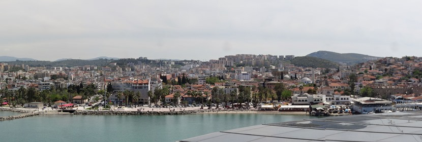Kusadasi panorama from ship