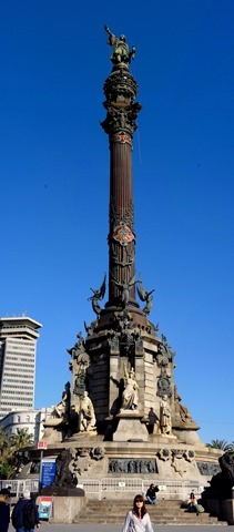 375a. Barcelona_Columbus column panorama