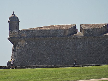 Guarita, or sentry box, at the end of a wall of the fort