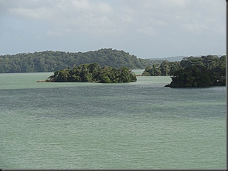 Islands in manmade Gatun Lake used to be mountain tops