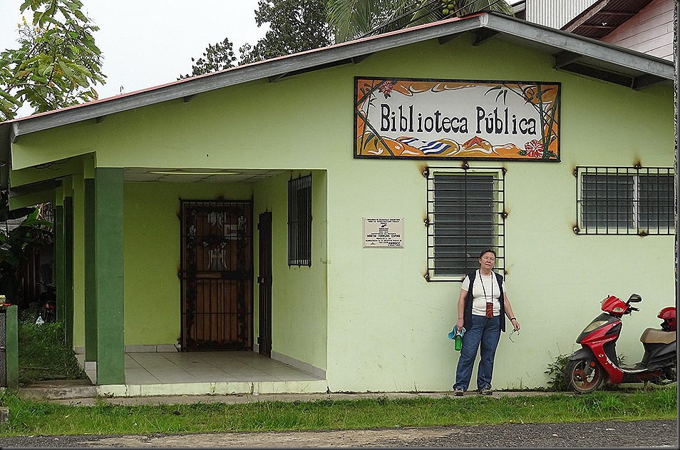 Library, Bocas Del Toro, with Mary